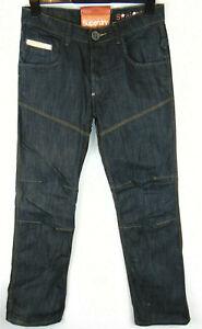 Camisa-de-corte-recto-W32-L30-para-hombre-Azul-Marino-Cinch-Denim-Jeans