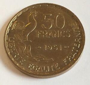 Ref2-Monnaie-50-Francs-Guiraud-1951-Etat-Spl-Voir-Photos-Contractuelles