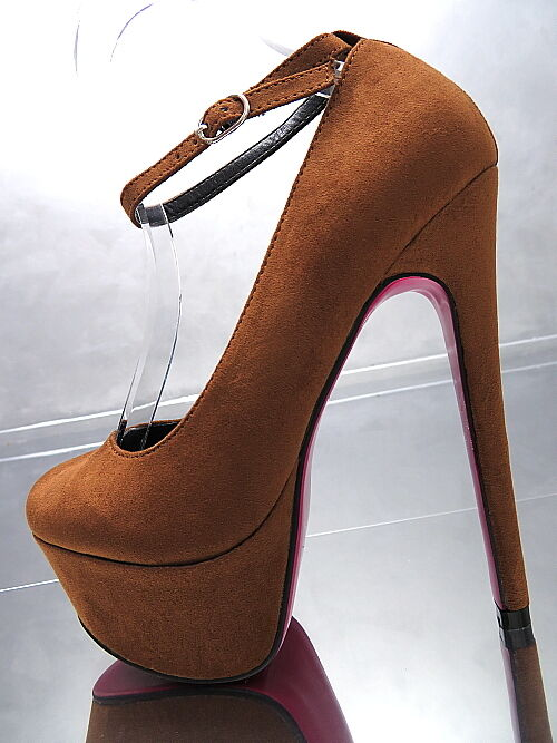 NEU HOHE PUMPS O49 PLATEAU LUXUS PINK SOLE O49 PUMPS LUXUS SCHUHE HIGH HEELS CAMEL 37 93520e
