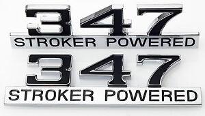 347 Stroker Power Badge Emblem Ford Falcon EA EB ED EF EL AU 302 50 V8 XR8 GT 56