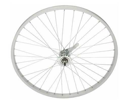 "White 26/"" x 2.125 Bicycle Alloy WheelSet Front /& Rear Heavy Duty 12G Spokes Bike"
