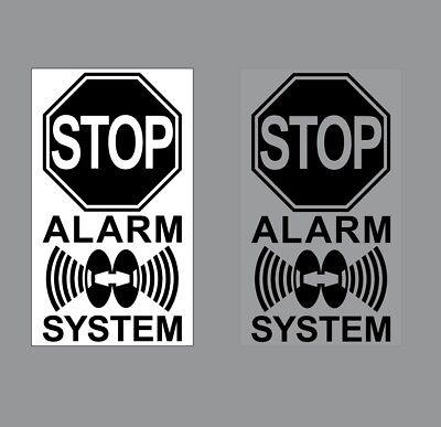 Video Alarm System 7cm schw Aufkleber Sticker Set für Innenseite Fenster Glas