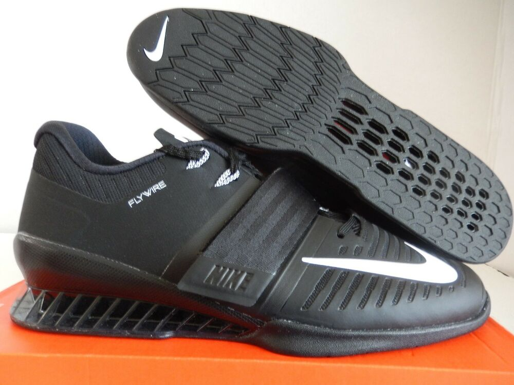 NIKE ROMALEOS 3 WEIGHTLIFTING chaussures noir-blanc SZ 14 [852933-002]