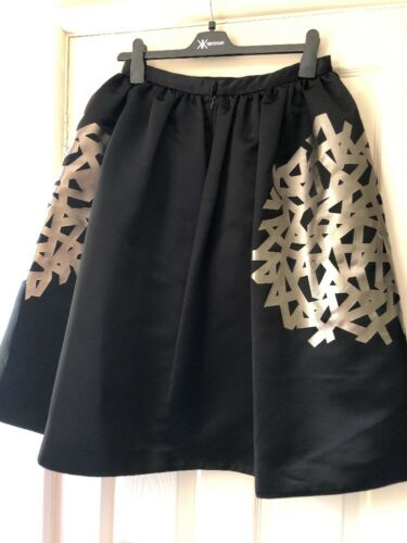 Rrp Uk Bruce 12 Oldfield Foil Skirt £130 Print Ynxn6vqU