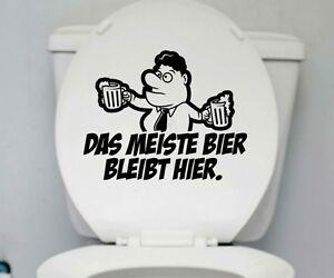 Wc Deckel Bier Aufkleber Toilette Lustig Spruch Badezimmer Bad