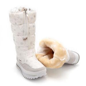 Damen-Winterstiefel-Stiefeletten-Stiefel-Warm-Snow-Boots-Gefuettert-Schneeschuhe