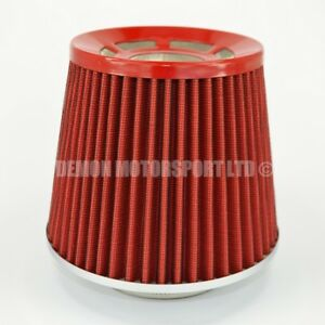 """Universal Performance Cone Air Filter Red For 63mm 2.5"""" Induction Kit (76128)"""