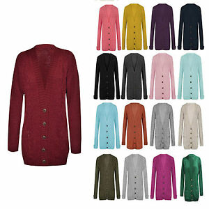 Chers-femme-chunky-cable-tricote-manches-longues-Bouton-Grandad-pour-femme-knitwear-cardigan
