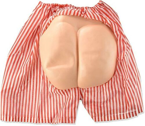 Mooning Butt Boxer Shorts Bum Funny Party Gag Fake Moon Adult Humor Ass Costume