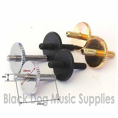 Pair of Tune O matic guitar bridge posts in chrome Black or Gold