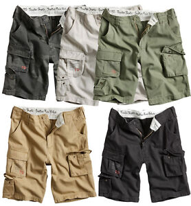 SURPLUS-TROOPER-SHORTS-MENS-MILITARY-VINTAGE-CARGO-COMBAT-ARMY-WASHED-COTTON