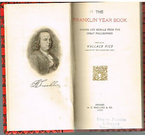 The-Franklin-Year-Book-by-Wallace-Rice-1907-1st-Ed-Rare-Antique-Book