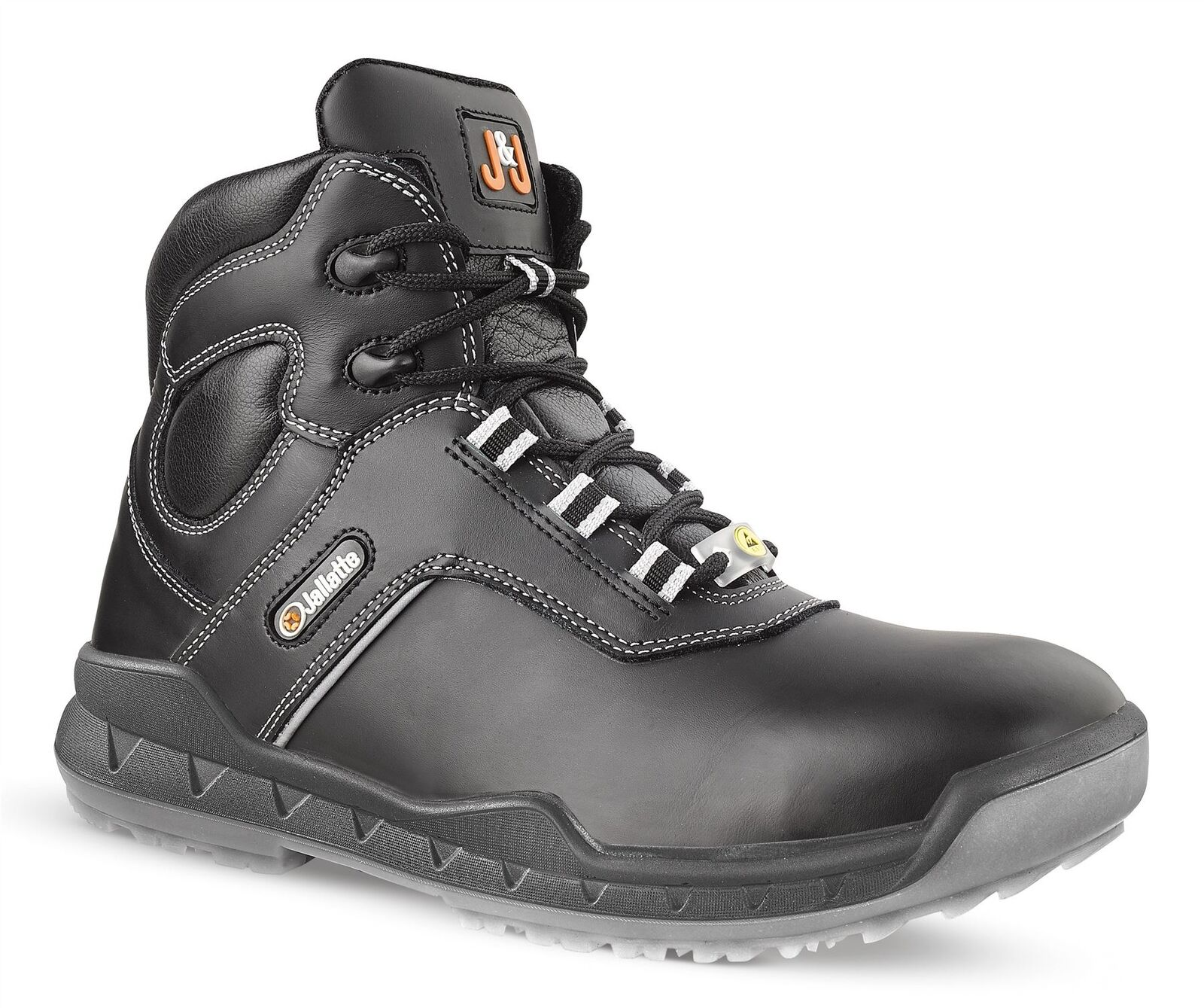 Jallatte Jallune JEJ14 S3 Black Mens Leather Safety Toecap Work Boots Size