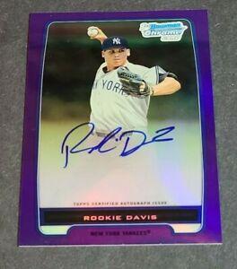 Rookie Davis Auto New York Yankees 2012 Bowman Chrome Purple Refractor 7/10