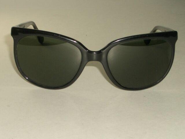 Circa Años 70 Bausch & Lomb Ray-Ban Francia Negro Brillante G15 Gatos 1000 Sol