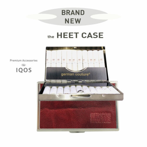 IQOS HEETS Echt Leder Zigarettenbox German Couture® HEET-CASE Zigarettenetui f