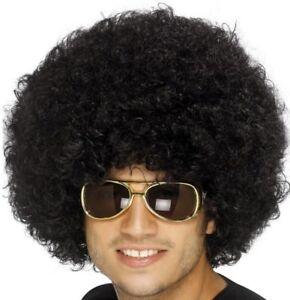 ANNI-70-1970s-80-1980s-DONNA-UOMO-Funky-Afro-Disco-parrucca-vestito-da-Smiffys