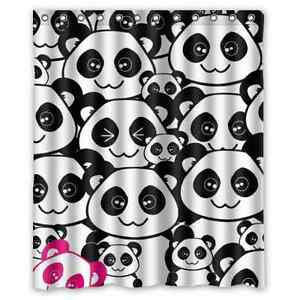 Image Is Loading Brand New Cute Panda Shower Curtain 60 X