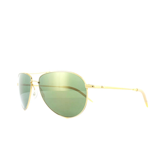 eafa5c18bed Oliver Peoples Benedict Ov1002s Gold Green VFX Polarized Sunglasses 1002  59mm