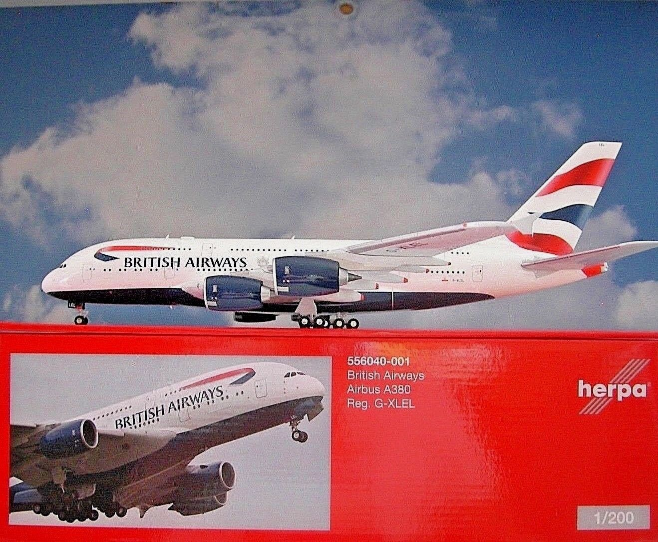 Herpa Wings 1 200 Airbus a380 British Airways G-XLEL 556040-001