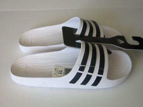 887383104019 Duramo Diapositivas Sandalias Nwt 10 Rayas Adidas 3 Hombre Negro Slide Blanco zwPCZn