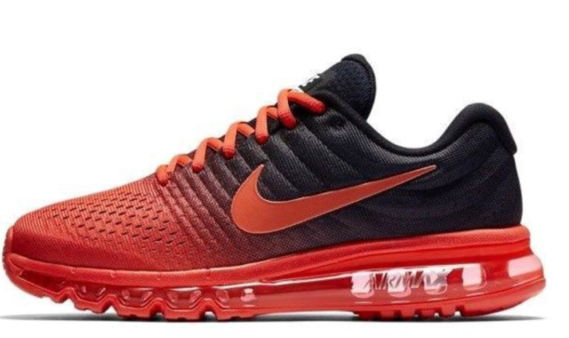 competitive price 2edd4 905d9 MENS NIKE AIR MAX 2017 RUNNING SHOES 849559 600 CRIMSON/BLACK NEW $190 SIZE  11.5