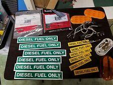 Lot Of Diesel fuel sticker marker lights Pigtails Reflectors
