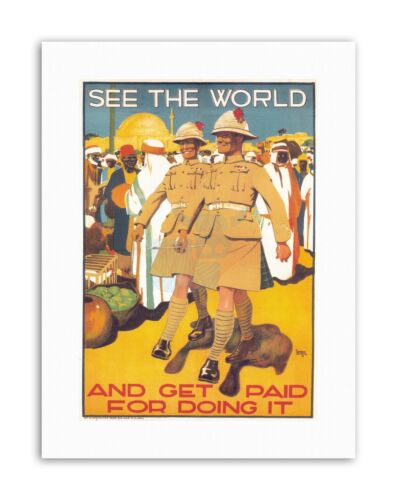 MILITARY ENLIST BRITISH ARMY COLONIAL UK Poster Political Canvas art Prints