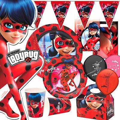 Miraculous Ladybug Einladungskarten 6er Set 6 Umschläge Kindergeburtstag T2