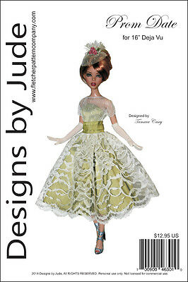 "Luminous Doll Clothes Sewing Pattern for 16/"" Deja Vu Dolls Tonner"
