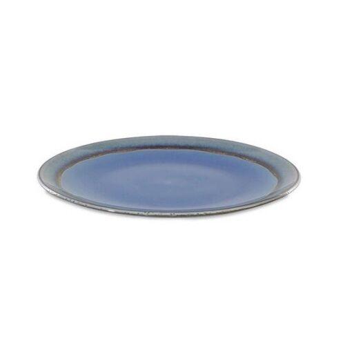 Dakara Ceramic Dinner Plate Light Blue Set of 2 by Nkuku