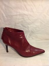Witchery Ankle Cherry Leather Boots Size 39