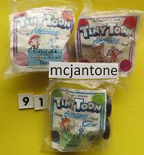 MIP LOT of 3 McDonald's 1991 TINY TOON Adventure Flip Car Gogo Dodo Looney Tunes