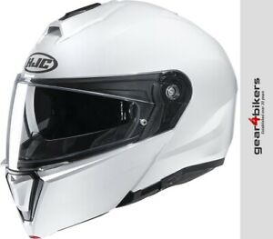 HJC-I90-Pearl-White-Motorcycle-Flip-Front-Modular-System-Helmet-Scooter-Touring