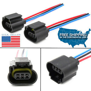 Details about 2pc H13 9008 Wire Harness Plug Pigtails Socket Connector on