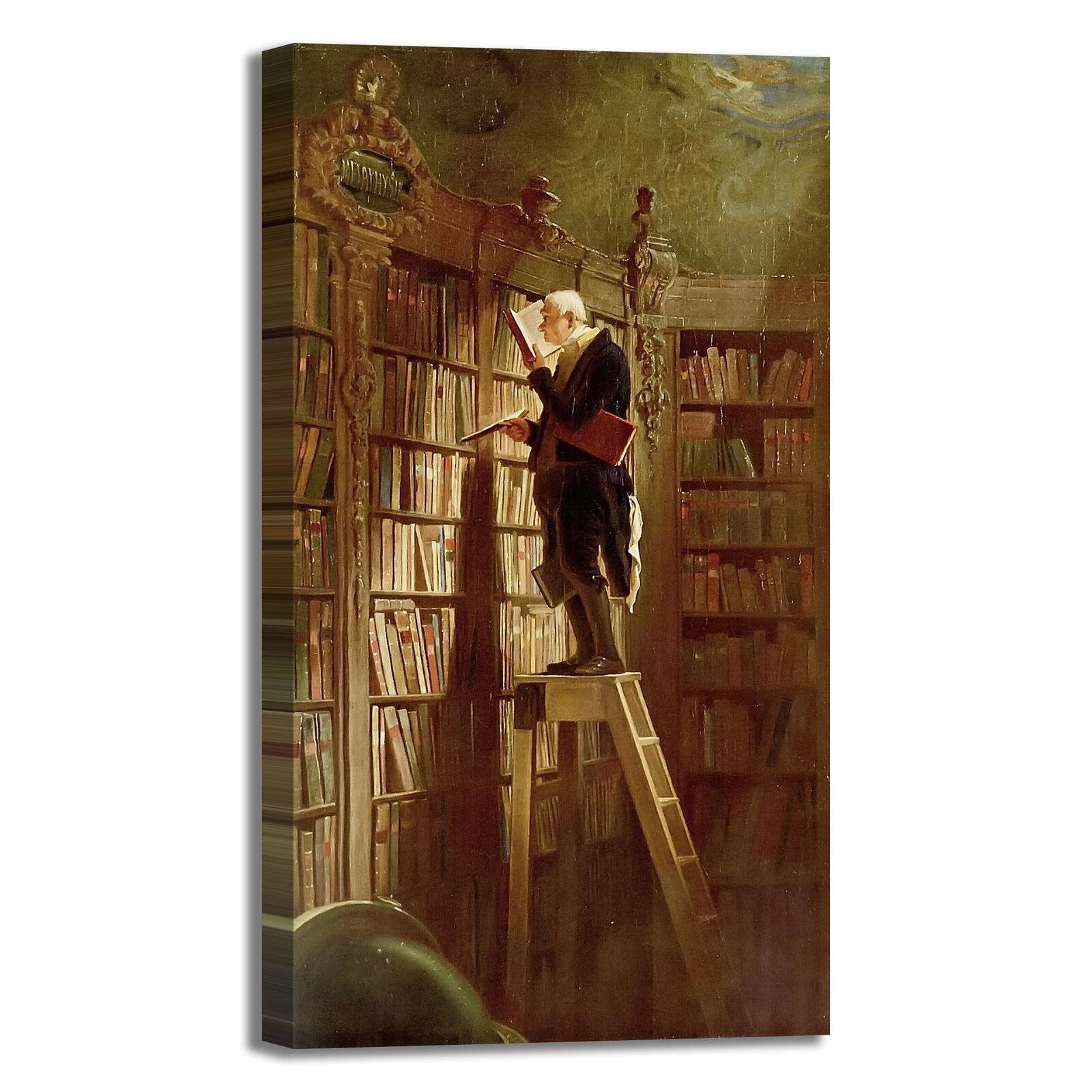 Spitzweg topo da biblioteca dipinto design quadro stampa tela dipinto biblioteca telaio arRouge o casa ed9894