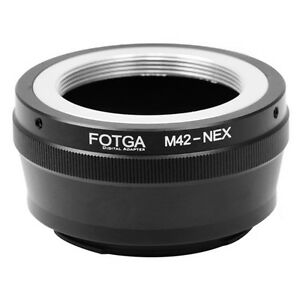 Fotga-M42-42mm-Objektiv-an-Sony-E-Mount-NEX-7-6-5-A7-A7S-A7R-II-A6500-A5100-Adapter