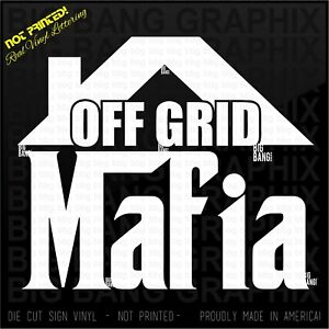 Off the Grid House Decal Sticker Pioneer Homestead Tiny House Debt Free Life