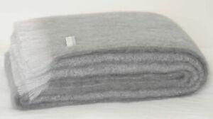 Masterweave Windermere Mohair Knee Wrap Throw Blanket in Pewter