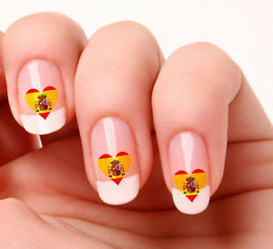 20 nail art decals transfers stickers 276 spanish flag heart ebay image is loading 20 nail art decals transfers stickers 276 spanish prinsesfo Gallery