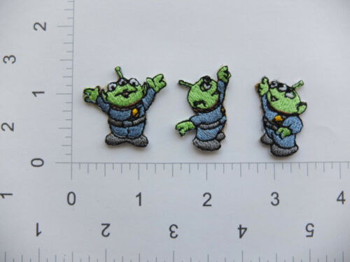 EMBROIDERED Toy Story Woody Buzz Jessie Rex Green Men #413 Iron On Sew on Patch