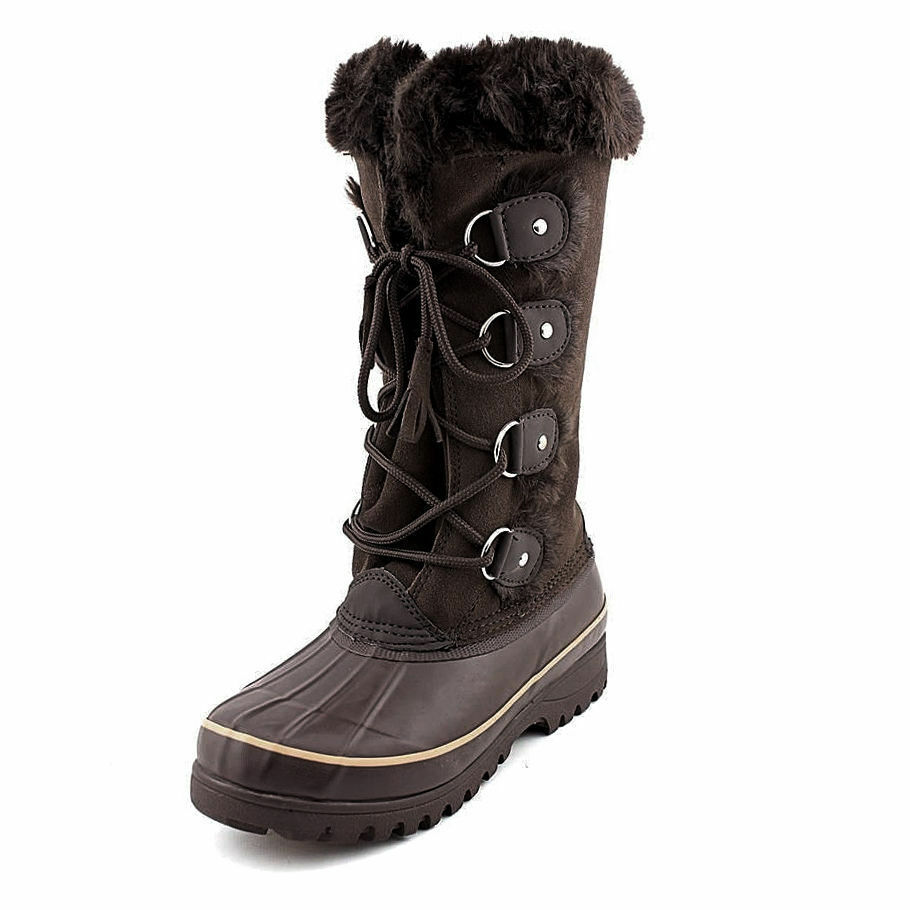 NWT Women's Brown KHOMBU Nordic Winter Snow WATERPROOF BOOTS Size 7