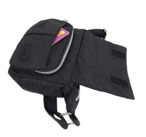 Sportliche Handtasche UMHÄNGETASCHE Wasserabweisende Nylon Damentasche ~ Schwarz