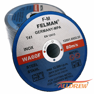 125mm-x-1mm-Extra-Thin-Cutting-Slitting-Discs-5-039-039-Angle-Grinder-METAL-INOX-Pk-10
