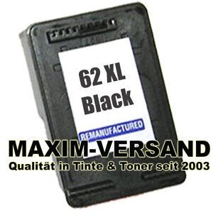 1 Patrone für HP 62 XL Black Envy 7644 OfficeJet 5700 Series 5741 5743 5744 INK