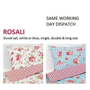 ikea rosali cath kidston duvet covers pillowcases bedding set same day dispatch ebay. Black Bedroom Furniture Sets. Home Design Ideas
