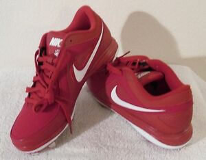 NEW Nike Air MVP Pro Mens Metal Baseball Cleats 11.5 Red/White MSRP$80
