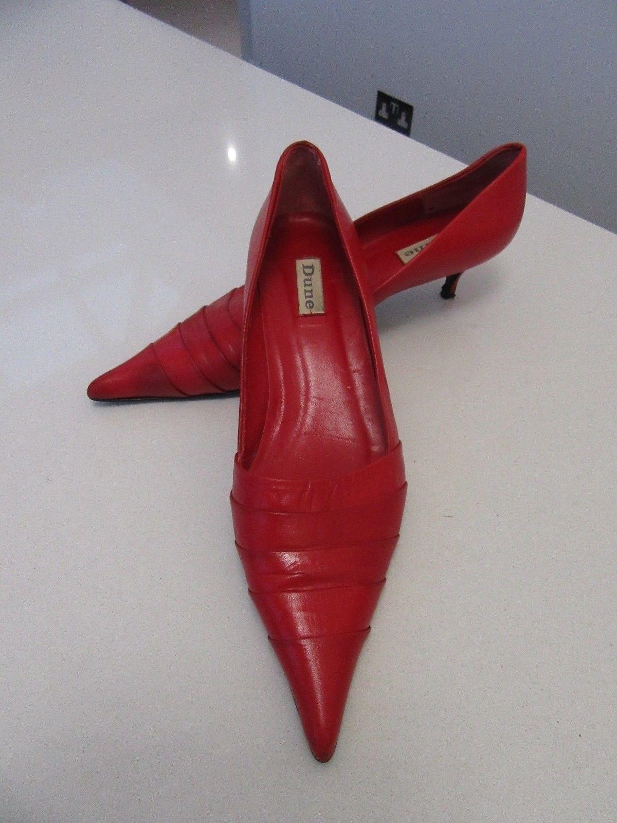 Sandali Donna Dune Slip On 'Scarpe TAGLIA 40 in una grande colore rosso, Super marca