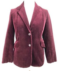 Størrelse Blazer 1970's Retro Velvet Burgundy Vintage 12 Smoking Jacket Snugkoat xYqUadTw8