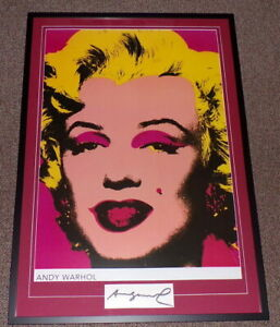 Andy-Warhol-Signed-Framed-28x41-Marilyn-Monroe-Poster-Display
